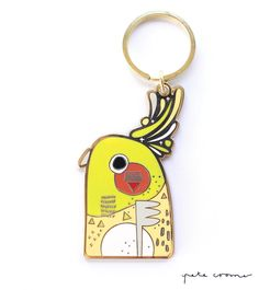 Gold Plated Enamel Key Chain -------------------------------------------------------- Approx Size: Height 70mm • Width 40mm -----------------------...