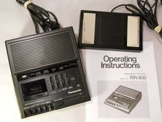 Panasonic RR-930 Microcassette Transcriber Recorder w/ Foot Controller & Manual #Panasonic