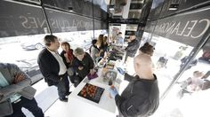 PORCELANOSA presents the Emotions kitchens by means of a culinary roadshow in Paris #FoodTruck
