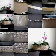 How to make Cardboard and Packaging Paper Plant Pot step by step DIY tutorial instructions, How to, how to do, diy instructions, crafts, do it yourself, diy website, art project ideas