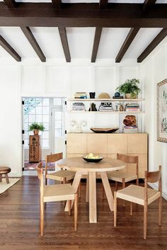 an inspired, neutral dining space