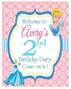 Cinderella Party: Welcome Sign