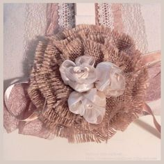 Burlap Flower from Canvas Corp  #themermaidscloset
