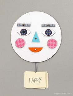 HOW ARE YOU FEELING TODAY? // MR PRINTABLES DIY FACE TOY