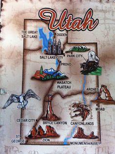 46 Best Utah Maps images