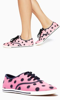 It doesn't get sweeter than a pink sneaker splashed with polka dots. Try these with a pair of cropped skinny pants for a '60s vibe.