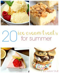 20 Delicious Ice Cream Treats for Summer from SixSistersStuff.com