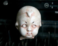 Vintage Doll Head  Adorable Dug Up DOLL HEAD by Sweetkate