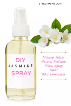 Try this DIY jasmine spray for a calming and hydrating face spray or to relieve annoying PMS symptoms! Jasmine is one of. Jasmine Essential Oil, Jasmine Oil, Essential Oil Spray, Diy Beauty Projects, Face Spray, Day Glow, Belleza Natural, Diy Makeup, Chill Pill