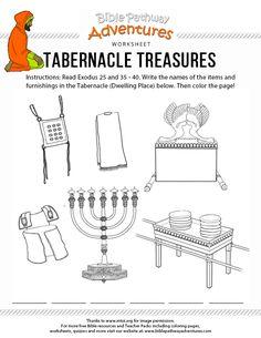 Tabernacle Treasures Bible Activity
