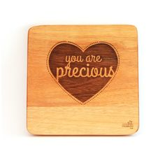 """""""You are precious"""". A simple, creative design but such beautiful words. These can be bought individually or buy the whole set! Wooden Wall Art, Wooden Walls, You Are Precious, African Children, Wall Art Designs, Nursery Art, Bamboo Cutting Board, Beautiful Words, Creative Design"""