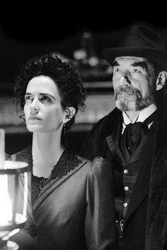 Penny Dreadful, Eva Green as Vanessa Ives and Timothy Dalton as Sir Malcom Timothy Dalton Penny Dreadful, Penny Dreadful Tv Series, Eva Green Penny Dreadful, Vanessa Ives, Frankenstein, Dorian Gray, Oscar Wilde, Penny Dreadfull, Literary Characters