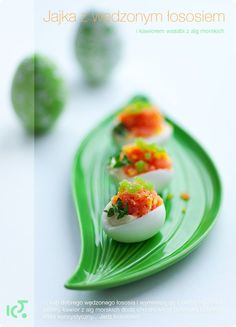 Jaja faszerowane wędzonym łososiem | Kwestia Smaku