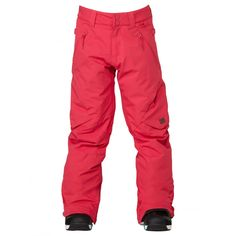 Girls Snowboard Pant in Bright Rose Waterproof and Breathable Critically Taped Seams Advanced waterpro