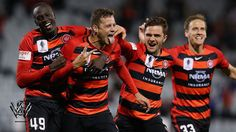 The moment you score your first goal for the Western Sydney Wanderers, Oriol Riera   #WSW hashtag on Twitter Champions League, Hashtags, Wander, Motorcycle Jacket, Westerns, Sydney, Singing, Soccer, Goals