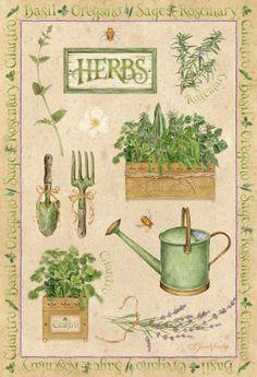 jardinage on jardine - Page 7 Vintage Prints, Vintage Posters, Impressions Botaniques, Illustration, Decoupage Paper, Vintage Labels, Watering Can, Botanical Prints, Vintage Images