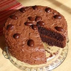 Black Magic Cake - Click image to find more Food & Drink Pinterest pins