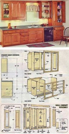 Finding Woodworking Projects and Plans for Beginners. If you are beginner and very interested in doing a DIY project for home then, woodworking can be interesting. Building Kitchen Cabinets, Kitchen Base Cabinets, Built In Cabinets, Diy Cabinets, Diy Wood Projects, Furniture Projects, Furniture Plans, Rustic Furniture, Diy Furniture