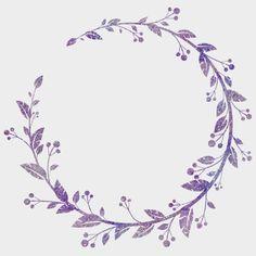 Watercolor Border, Floral Wreath Watercolor, Watercolor Background, Watercolor Flowers, Purple Flower Background, Pink And Purple Flowers, Floral Flowers, Food Design, App Design