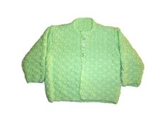 Green Baby cardigan. Apple green baby cardigan. 3 to 6 month cardigan. Baby girl jacket. Baby girl matinee jacket. Green knit baby cardigan. by Thingswelike2knit on Etsy