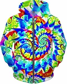 NBK Neo Morpheus Rage Trance Custom DMT Rave Revolution Style Zip Hoodie by Willy Badu.