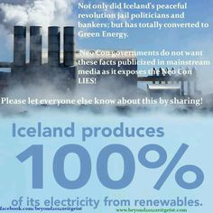 Iceland produces of its energy from renewables. Iceland produces of its energy from renewables.