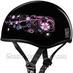 63b9397a14f Eagle Style with Flowers DOT Approved Motorcycle Helmet   SKU GRL-D6-FLO-DH