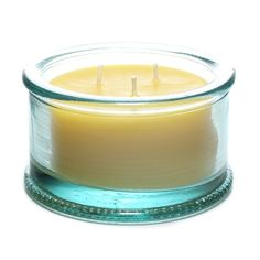 """x 2 ½"""" Tall) - 40 Hour Burn Time - Bluecorn Naturals Pure Beeswax & Recycled Glass Candle ¼"""" Dia. x 2 ½"""" Tall) - 40 Hour Burn Time"""