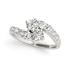 Handcrafted 1.25 Ct Tw Two Stone High Quality Diamond Engagement Ring - http://www.mybridalring.com/2-Stone-Rings/1-25-ct-tw-handcrafted-2-stone-diamond-engagement-ring/