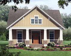 House Plan 59147   Country Craftsman Narrow Lot Plan with 1800 Sq. Ft., 3 Bedrooms, 2 Bathrooms, 2 Car Garage at family home plans