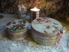 Купить Шкатулки набор ,,Лепестки роз,, - кремовый, шкатулка, шкатулка круглая, шкатулка на свадьбу