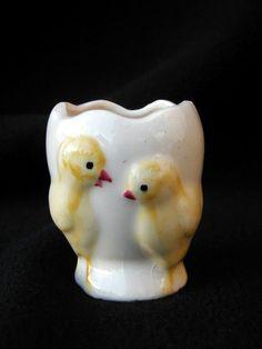 Vintage Fanny Farmer Egg Cup Easter 2 Chicks Advertising | eBay