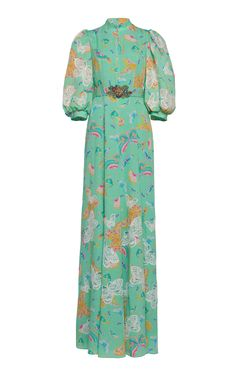 Butterfly Printed Maxi Dress by Andrew Gn Butterfly Dress, Butterfly Print, Beautiful Dresses, Nice Dresses, Long Dresses, Evening Dresses, Turquoise Clothes, Floral Dress Outfits, Red Carpet Fashion