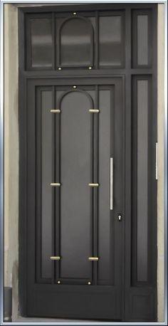 Puertas de hierro on pinterest puertas metal gates and - Puertas de metal para casas ...