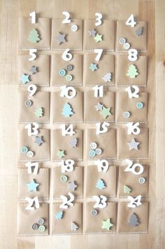 About the nice things: Advent Calendar Dollar Store Christmas, Christmas Gift Box, Christmas Love, Christmas Stockings, Christmas Holidays, Christmas Crafts, Xmas, Homemade Advent Calendars, Advent Calendars For Kids