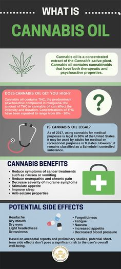 Cannabis oil infographic