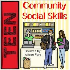 Teen Community Social Skills:Working on pragmatics is difficult. Working on pragmatics with teens is even harder. Use this thorough product designed to work on a variety of social skills within the community. These interactive activities will give your students control of the situations and questions presented.