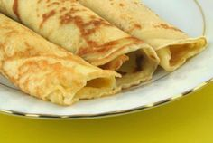 Living Without - Gluten-Free, Dairy-Free Easy Breakfast Crepes - Recipes Article - with an egg-free option Today's Recipe, Recipe Making, Recipe Log, Palacinke Recipe, Banane Plantain, Breakfast Crepes, Morning Breakfast, Paleo Breakfast, Gluten Free Breakfasts