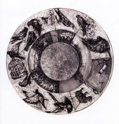 Music Box Tondo lithograph by William Kentridge. This is a single image but echo's the artist's love for animation. William Kentridge Art, History Of Animation, Drypoint Etching, Etching Prints, South African Artists, Kinetic Art, Sculptures For Sale, Art Of Living, Cool Drawings