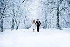 Dreamy Winter Wedding Photo