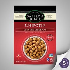 Saffron Road's Crunchy Chickpeas deliver an international snacking staple to American coffee tables, dashboards, and backpacks nationwide. Internationally inspired exotic flavors and certified gluten free make our organic chickpeas irresistible. With 5 grams of protein and only 3 grams of fat per serving – we give you something to cheer about.