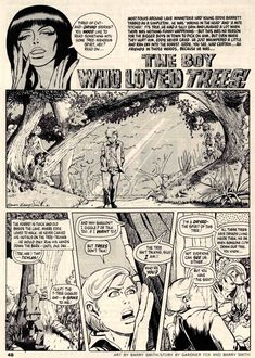 """Vampirella #9  Warren  """"The Boy Who Loved Trees"""" Simpleton Eddie Barrett was picked on. He just whimpered and ran off into the woods. But he had friends there.. Script by Gardner Fox & script/art by Barry Windsor-Smith (as Barry Smith.) This story is included in Dynamite's Vampirella Archives Volume Two."""