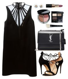 """""""Lbd"""" by thestyleartisan ❤ liked on Polyvore featuring Christopher Kane, Yves Saint Laurent, Salvatore Ferragamo, Bobbi Brown Cosmetics, Daisy Jewellery, LBD and rockthevote"""
