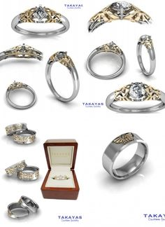 Legend of Zelda Wedding Collection. via: http://www.takayascustomjewelry.com/blog/?p=91