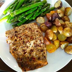 Chef John's Baked Lemon Pepper Salmon Salmon Dishes, Fish Dishes, Seafood Dishes, Chef John Recipes, Cooking Recipes, Healthy Recipes, Healthy Foods, Healthy Cooking, Healthy Eats