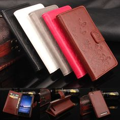 Flip Case for Xiaomi Redmi 3 Embossed Flower Pattern PU Leather Wallet Case for Mi 3 Phone Bag Cover with Card Slots & Stand