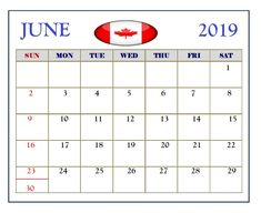 June 2019 Calendar Canada With Holidays June 2019 Calendar, Federal Holiday Calendar, South Africa Holidays, June Solstice, World Refugee Day, State Holidays, Indigenous Peoples Day, Canada Holiday