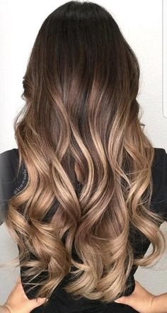 Ombre Hair Color Ideas For Blonde Brown Black Balayage Hair Hair Color Ideas For Brunettes Balayage, Summer Hair Color For Brunettes, Brown Hair Balayage, Brown Hair With Highlights, Balayage Highlights, Hair Color Balayage, Brown Hair Colors, Color Highlights, Balayage Brunette Long