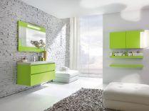 Muebles de baño verdes