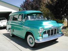 1956 suburban....my DREAM FAMILY VEHICLE...Micah and Silas would have the best time ridding around